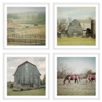 Marmont Hill Out with the Horses Quadriptych 96-Inch sq. Wall Art