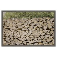 Marmont Hill Woodpile Framed 18-Inch x 12-Inch Wall Art