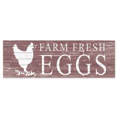 "Marmont Hill ""Farm Fresh Eggs"" Wood Wall Art"