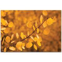 Metal Art Studio Yellow Leaves Indoor/Outdoor 32-Inch x 22-Inch Metal Wall Art