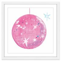 Marmont Hill Discoball 12-Inch Square Framed Wall Art