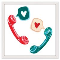 "Marmont Hill ""Love Phones"" 18-Inch Square Framed Wall Art"