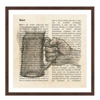 Marmont Hill Beer Toast 24-Inch Square Framed Wall Art