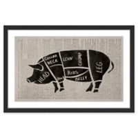 Marmont Hill Pork Cuts 18-Inch x 12-Inch Framed Wall Art