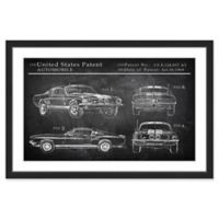 Marmont Hill Mustang Shelby Design 30-Inch x 20-Inch Framed Wall Art