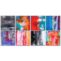 Metal Art Studio Urban Windows Abstract 8-Piece 94-Inch x 46-Inch Plexiglass Wall Art Set in Pink