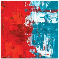 Metal Art Studio Urban Life 13 Plexiglass Abstract Wall Art in Red