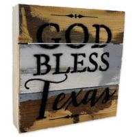 "Sweet Bird & Co. Texas ""God Bless"" Reclaimed Wood Wall Art"
