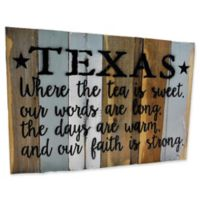 "Sweet Bird & Co. Texas ""Tea"" Reclaimed Wood Wall Art"