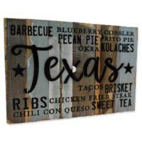 """Sweet Bird & Co.Texas """"Food"""" Reclaimed Wood Wall Art"""