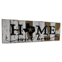 "Sweet Bird & Co. 18-Inch x 6-Inch Texas ""Home Sweet Home"" Reclaimed Wood Wall Art"