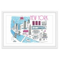 Marmont Hill Chic New York 60-Inch x 40-Inch Wall Art