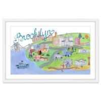 Marmont Hill Brooklyn by Boat 36-Inch x 24-Inch Framed Wall Art