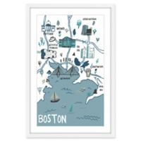 Marmont Hill Boston Attractions 12-Inch x 18-Inch Framed Wall Art