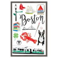 Marmont Hill Boston Icons 20-Inch x 30-Inch Framed Wall Art