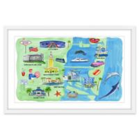 Marmont Hill Rich & Famous Florida Framed 24-Inch x 16-Inch Wall Art