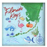 Marmont Hill The Wild of Florida Keys 18-Inch Square Canvas Wall Art with Shadowbox Frame