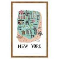Marmont Hill Exciting New York 24-Inch x 16-Inch Wall Art