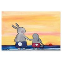 Marmont Hill Beach Bunnies 18-Inch x 12-Inch Canvas Wall Art