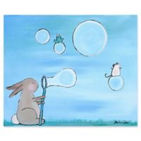 Marmont Hill Bunny Bubbles 29-Inch x 24-Inch Canvas Wall Art
