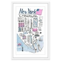 Marmont Hill Patriotic NY 40-Inch x 60-Inch Framed Wall Art