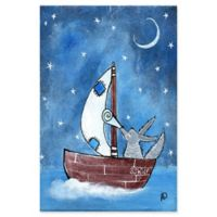 Marmont Hill Bad Wolf's Boat 12-Inch x 18-Inch Canvas Wall Art