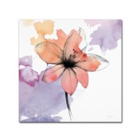Marmont Hill Watercolor Flower II 35-Inch Square Canvas Wall Art