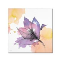 Marmont Hill Watercolor Flower IX 35-Inch Square Canvas Wall Art