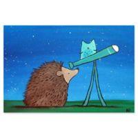 Marmont Hill Hedgehog Stargazer 30-Inch x 20-Inch Canvas Wall Art