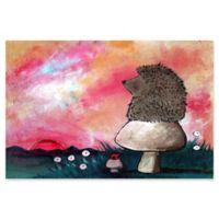 Marmont Hill Hedgehog Mushroom 30-Inch x 20-Inch Canvas Wall Art