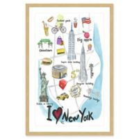 Marmont Hill I Love New York 16-Inch x 24-Inch Framed Wall Art