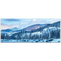 Metal Art Studio The Slopes 19-Inch x 48-Inch Metal Wall Art
