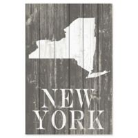 "Marmont Hill ""New York"" Profile 30-Inch x 45-Inch Wooden Wall Art"