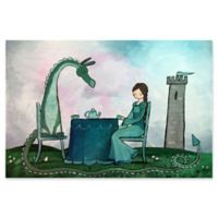 Marmont Hill Tea with a Dragon 45-Inch x 30-Inch Canvas Wall Art