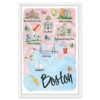 Marmont Hill I Love Boston 24-Inch x 36-Inch Framed Wall Art