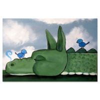 Marmont Hill Sleeping Dragon 30-Inch x 20-Inch Canvas Wall Art