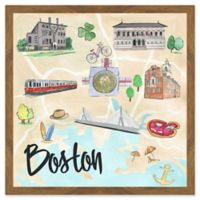 Marmont Hill Boston Attractions 18-Inch Square Framed Wall Art