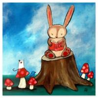 Marmont Hill Bunny Story 18-Inch x 18-Inch Canvas Wall Art