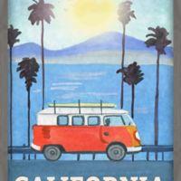 Marmont Hill Cali Orange Bus 20-Inch x 30-Inch Shadow Box Wall Art