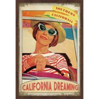 Marmont Hill Travel Poster California 30-Inch x 45-Inch Shadow Box Wall Art