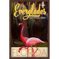 Marmont Hill Travel Poster Everglades 30-Inch x 45-Inch Shadow Box Wall Art