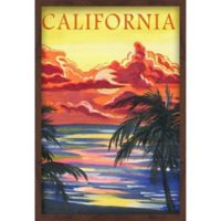 Marmont Hill Paradise in L.A. 24-Inch x 36-Inch Shadow Box Wall Art