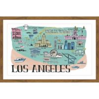 "Marmont Hill ""Los Angeles"" Fun II 24-Inch x 36-Inch Framed Wall Art"