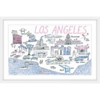 Marmont Hill Los Angeles Destinations 30-Inch x 20-Inch Framed Wall Art