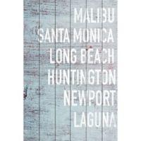 Marmont Hill Cali Beaches 12-Inch x 18-Inch Wood Wall Art