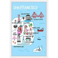 Marmont Hill City by the Bay 40-Inch x 60-Inch Framed Wall Art