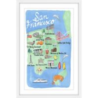 Marmont Hill San Francisco Map 24-Inch x 36-Inch Framed Wall Art