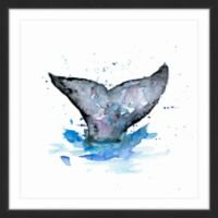 Marmont Hill Whale Tail 18-Inch x 18-Inch Framed Wall Art