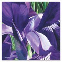 Metal Art Studio Heart of a Purple Iris 22-Inch Square Plexiglass Wall Art
