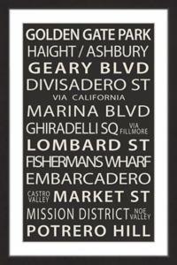 Marmont Hill Golden Gate Park 20-Inch x 30-Inch Framed Wall Art